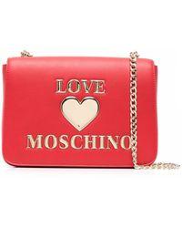 Love Moschino - ロゴプレート ショルダーバッグ - Lyst