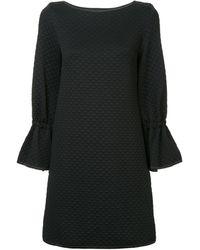 OSMAN Quilted Shift Dress - Black