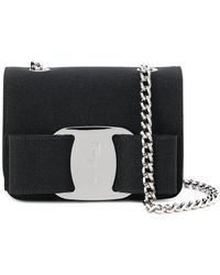 b67ef818e8f8 Lyst - Ferragamo Mini Vara Flap Bag in Black