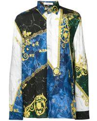 Versace - Camisa con estampado jaspeado - Lyst b8c4250605e
