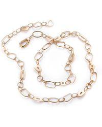 Mattioli 18kt Rose Gold Puzzle 90cm Chain Link Necklace - White