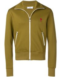 AMI - Zipped Sweatshirt With High Collar And Ami Heart Patch - Lyst