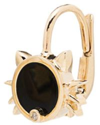 Yvonne Léon 9k Yellow Gold Cat Diamond Earring - Metallic