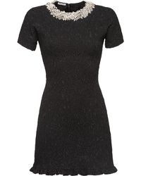 Miu Miu Cloqué ドレス - ブラック
