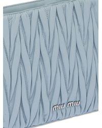 Miu Miu Sassy マテラッセ レザーバッグ - ブルー