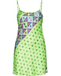Frankie's Bikinis Aster Geometric-print Minidress - Green
