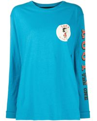 Marc Jacobs X Peanuts Lucy Long-sleeved Top - Blue