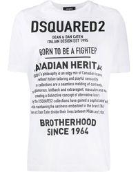 DSquared² Logo Print T-shirt - White