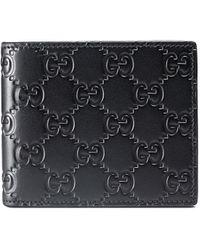 Gucci - グッチシグネチャー 二つ折り財布 - Lyst