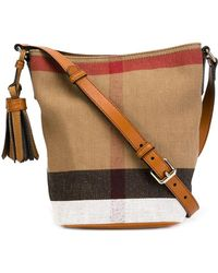 Burberry   Ashby Small Canvas Check & Leather Crossbody   Lyst