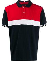 Tommy Hilfiger Poloshirt Met Colourblocking - Blauw