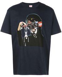 Supreme T-shirt con stampa - Blu