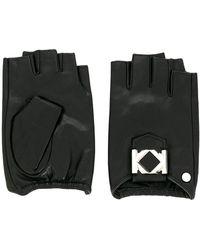 Karl Lagerfeld Перчатки-митенки Miss K - Черный