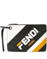 Fendi - Classic Branded Clutch - Lyst