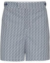 Frescobol Carioca Beam Print Tailored Swim Shorts - Blue