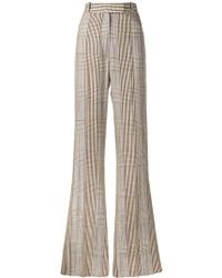 Golden Goose Deluxe Brand Long Plaid Trousers - Brown