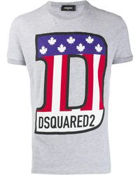 DSquared² Футболка С Логотипом - Серый