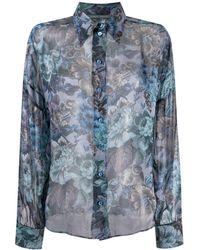 Alberta Ferretti Floral print shirt - Blu