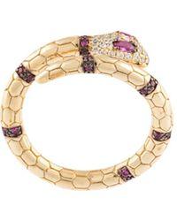 Apm Monaco Sterling Silver Serpent Wrap Ring - Metallic