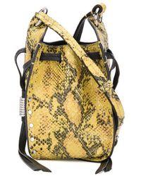 Isabel Marant Radja Snake-effect Bucket Bag - Yellow