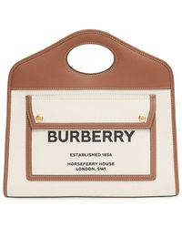 Burberry - Маленькая Сумка-тоут С Логотипом - Lyst
