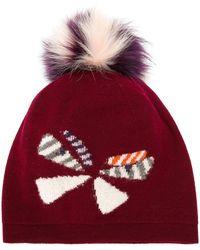 Fendi | Wool Hat W/ Fox Fur Pompom | Lyst