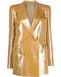 Blazé Milano Double Breasted Jacket - Metallic