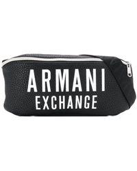 Armani Exchange Поясная Сумка С Логотипом - Черный