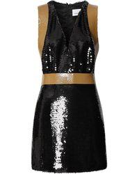 Burberry スパンコール ミニドレス - ブラック