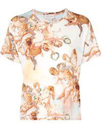 Karen Walker T-shirt Cumulus - Multicolore