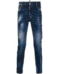 DSquared² Gerafelde Jeans - Blauw
