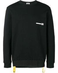 Les Hommes Logo Print Sweatshirt - Black