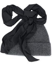 Molly Goddard Lila Ribbed-knit Beanie - Grey