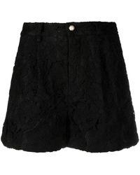 Amen Lace-patterned Flared Shorts - White