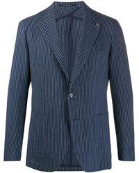 Tagliatore Fitted Single-breasted Blazer - Blue