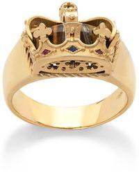 Dolce & Gabbana Кольцо Из Желтого Золота С Сапфирами И Рубинами - Металлик