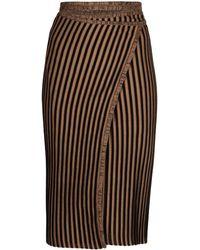 Y. Project Wraparound Striped Skirt - Black
