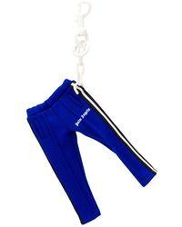 Palm Angels Track Pants Keyring - Blue