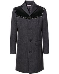 Palm Angels - V-cut Studded Coat - Lyst