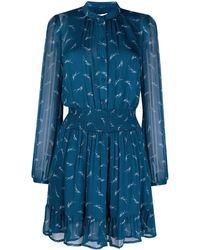 MICHAEL Michael Kors Платье С Абстрактным Принтом - Синий