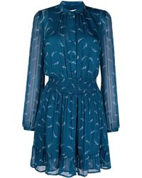 MICHAEL Michael Kors Abstract-print Dress - Blue