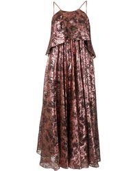 Halpern - メタリック ドレス - Lyst