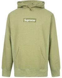 Supreme Sudadera con capucha y logo Box - Verde