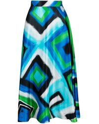 Gianluca Capannolo Abstract-print Midi Skirt - Blue