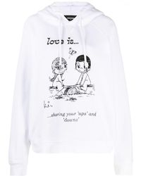 DSquared² Love Is Print Hoodie - White