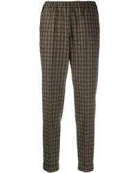 Alberto Biani Check Pattern Cropped Trousers - Blue
