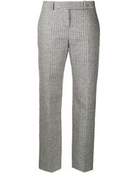 Ermanno Scervino Pantalon rayé à taille haute - Noir