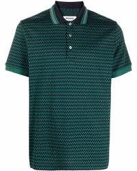 Missoni ジグザグプリント ポロシャツ - グリーン