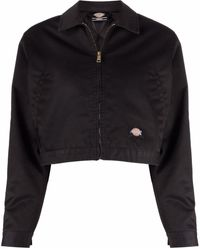 Dickies Construct Zip-up Cropped Bomber Jacket - Black