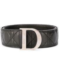 Dior D バックル ベルト - ブラック